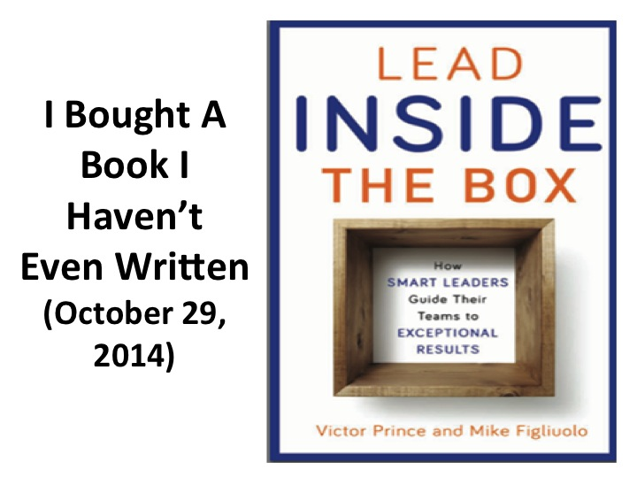 I Bought A Book I Haven't Even Written (October 29, 2014)